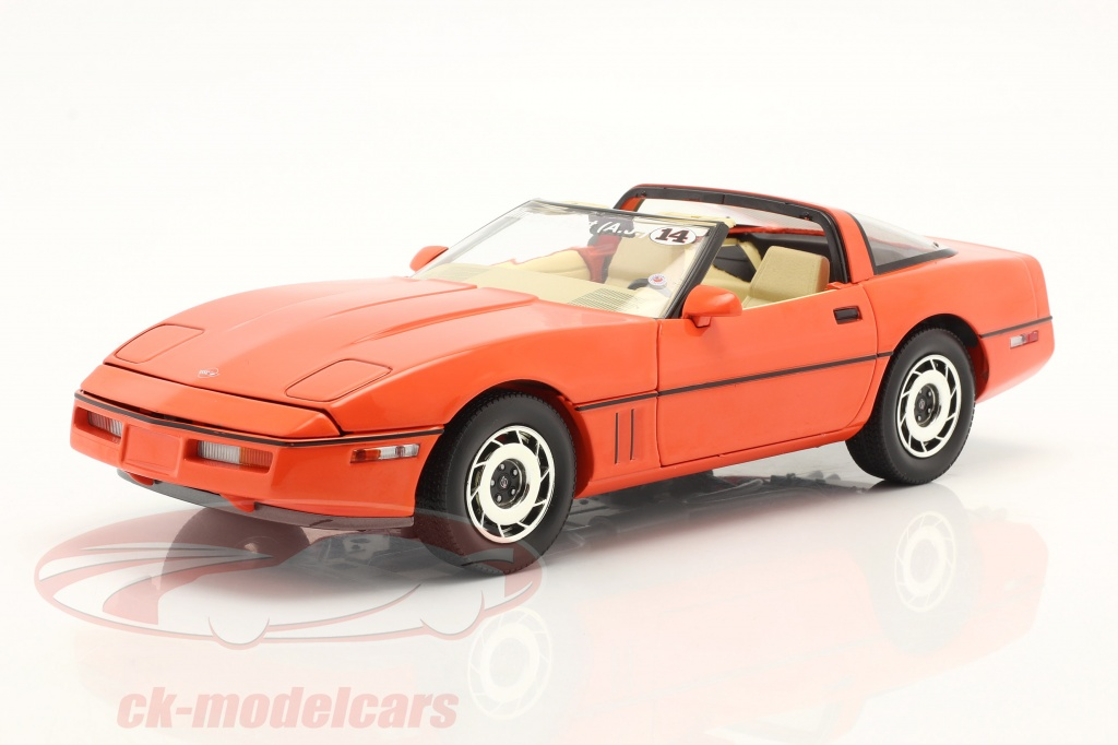 greenlight-1-18-chevrolet-corvette-c4-bygger-1984-hugger-orange-13595/