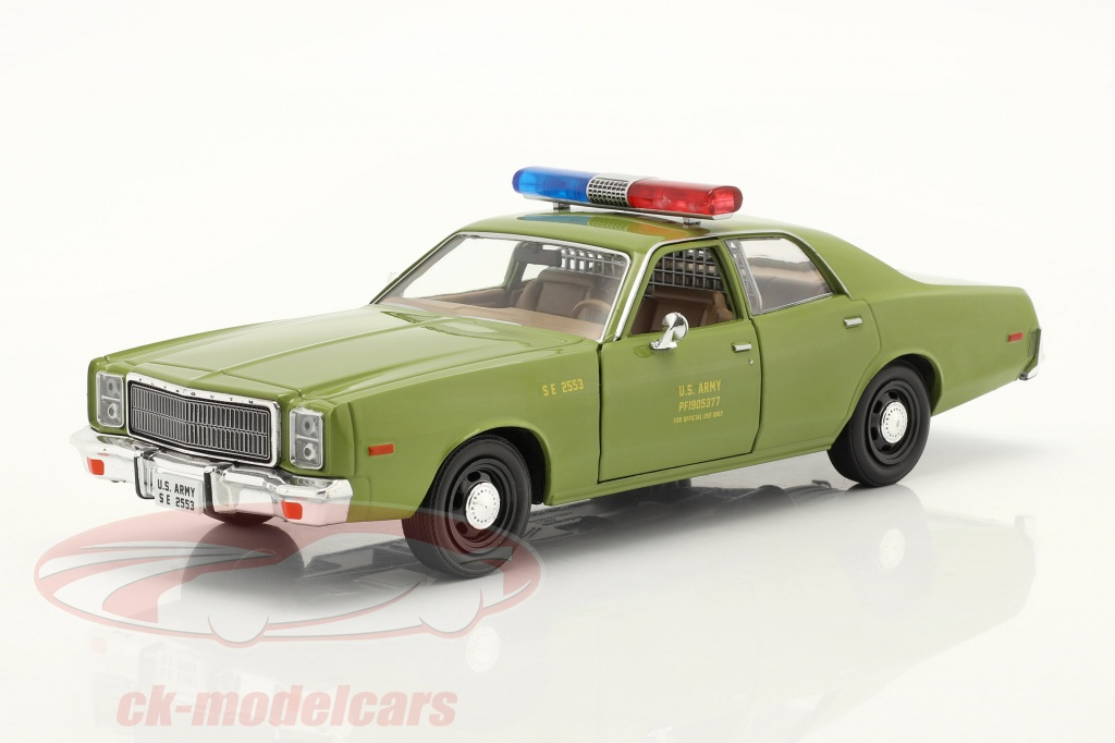 greenlight-1-24-plymouth-fury-1977-tv-series-das-a-team-1983-87-army-green-84103/