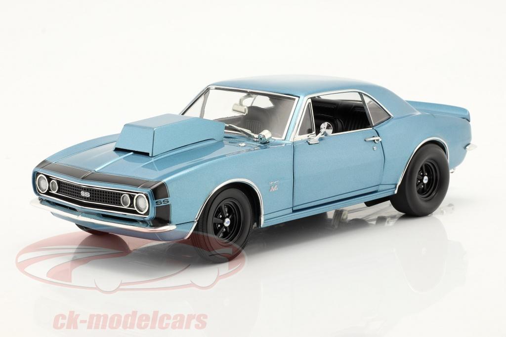 gmp-1-18-chevrolet-camaro-drag-outlaws-1967-bleu-a1805721nc/
