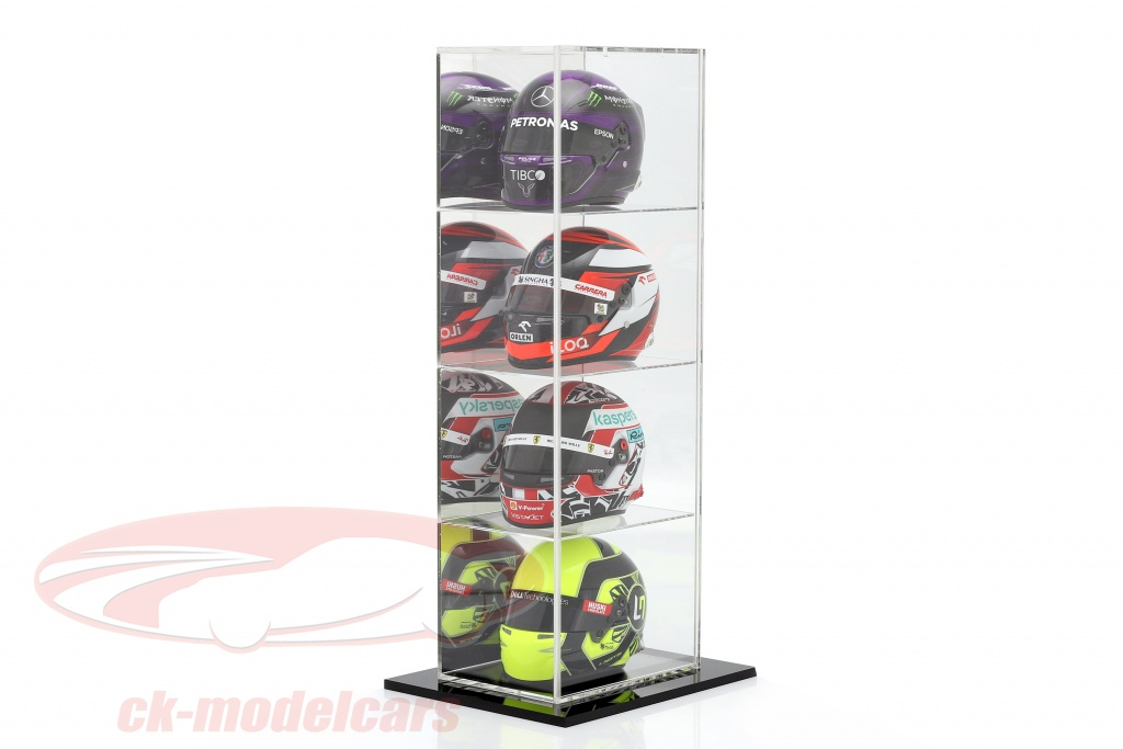 high-quality-mirrored-stand-showcase-with-4-compartments-for-helmets-scale-1-2-safe-ck99918012/