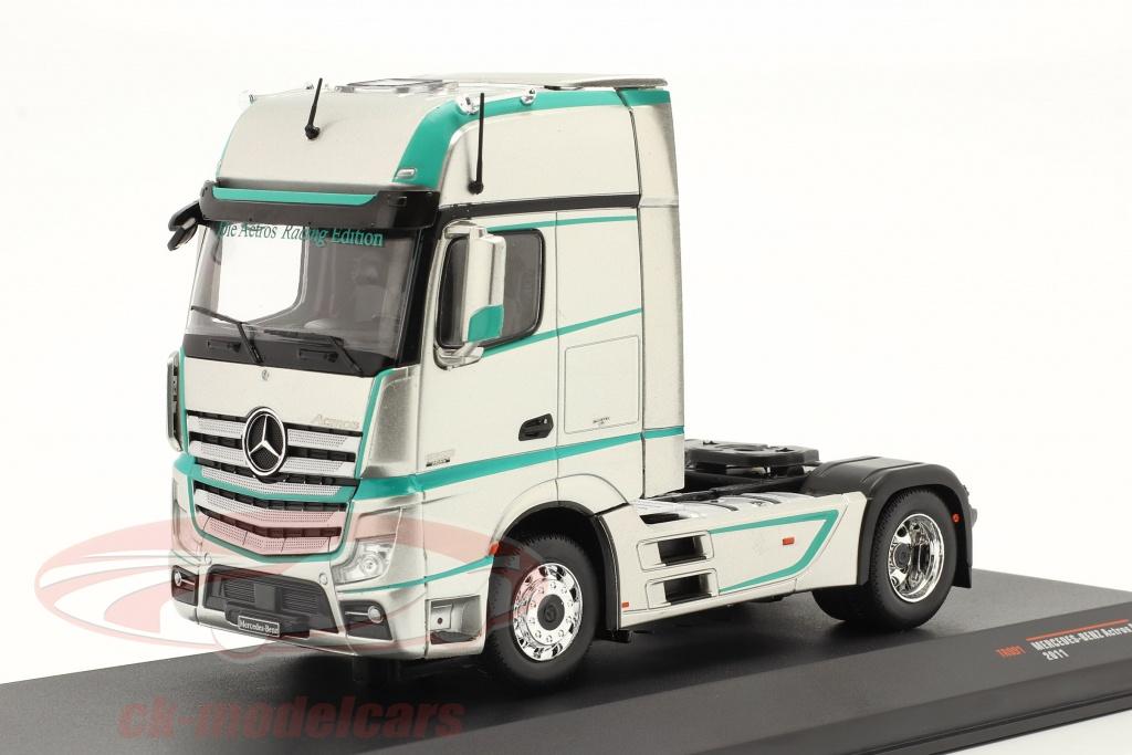 ixo-1-43-mercedes-benz-actros-mp4-camion-annee-de-construction-2011-argent-tr091/
