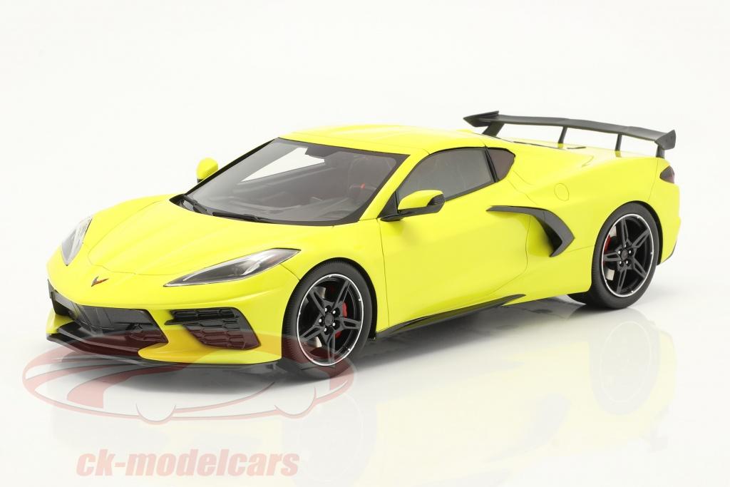 true-scale-1-18-chevrolet-corvette-c8-stingray-annee-de-construction-2020-accelerate-jaune-metallique-ts0286/