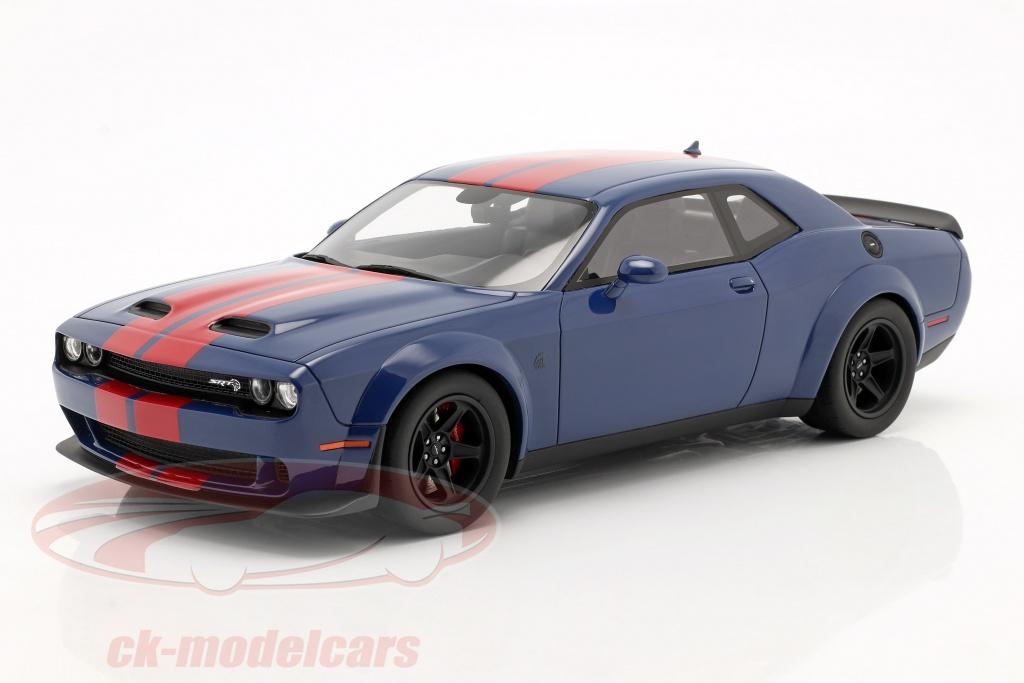 gt-spirit-1-18-dodge-challenger-srt-coupe-super-stock-2021-indigo-blue-red-gt362/