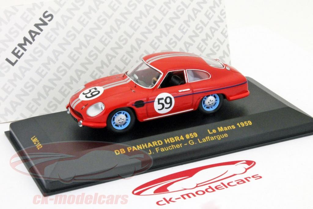 ixo-1-43-db-panhard-hbr4-59-24h-le-mans-1959-faucher-laffargue-lmc102/