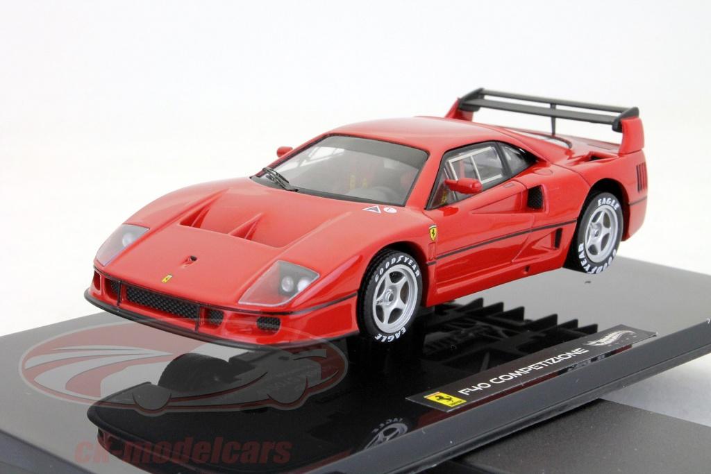 hotwheels-elite-1-43-ferrari-f40-competizione-testcar-24h-lemans-1995-red-x5507/