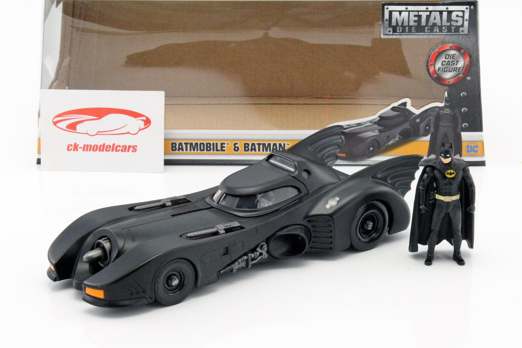 Batmobile mit Batman Figur Film Batman 1989 1:24 Jada Toys
