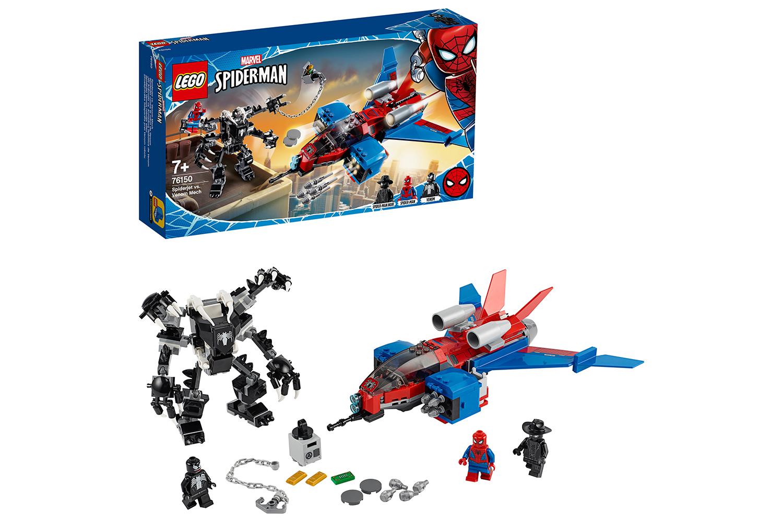 lego-marvel-spiderman-spiderjet-vs-venom-mech-76150/