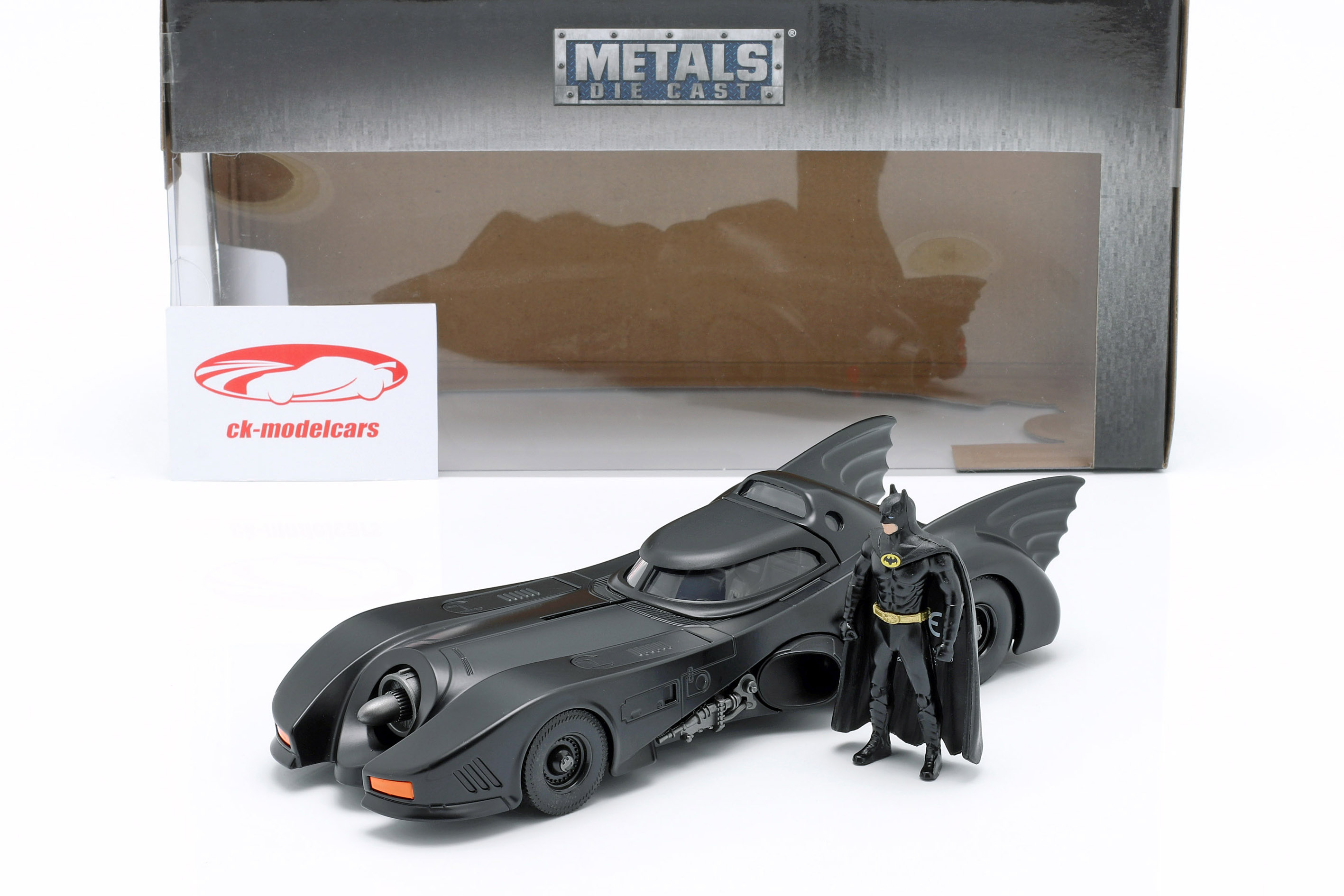 Batmobile con Batman cifra film Batman 1989 1:24 Jada Toys
