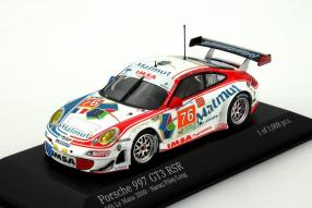 Modellauto Porsche 911 GT3 RSR Team IMSA Performance Matmut 2010