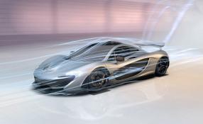 McLaren P1 Nürburgring 2013 im Windkanal