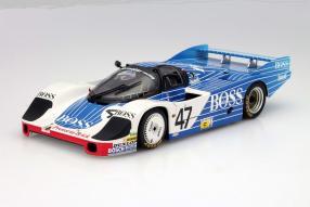 Modellauto Porsche 956 Langheck Hugo Boss Maßstab 1:18