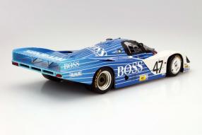 model car Porsche 956 Langheck Hugo Boss scale 1:18