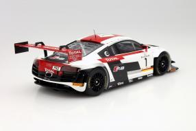 model car Audi R8 LMS Ultra Winner 24 Stunden Spa 2014 in scale 1:18