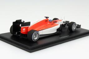 Modellauto  Formel 1 Manor MR03B Spanien 2015 Maßstab 1:43