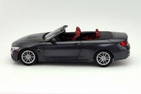 BMW M4 Cabriolet im Maßstab 1:18 in Mineralgrau-Metallic