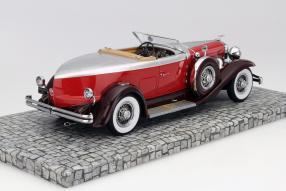 Model car Duesenberg Model J 1929 scale 1:18