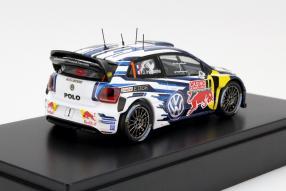 Weltmeisterauto: Sébastien Ogier VW Polo R WRC 2015 in 1:43