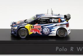 model car VW Polo R WRC 2015 in scale 1:43