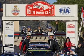 Monte Carlo Rallye WM Sébastien Ogier VW Polo R WRC 2015 in 1:43