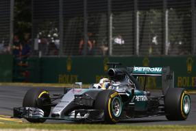 Lewis Hamilton mit dem W06 in Australien 2015