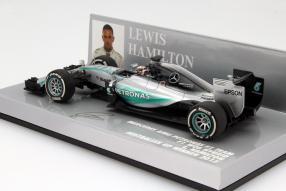 Modellauto Lewis Hamilton Formel 1 2015 #6 Maßstab 1:43
