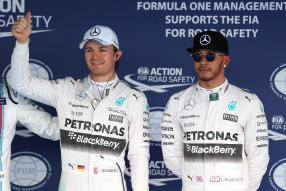 Nico Rosberg, Lewis Hamilton, Sotchi 2015