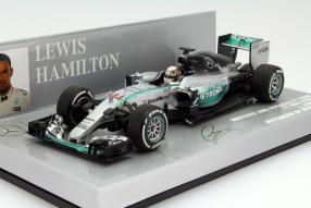 Lewis Hamilton Formel 1 Modell W06 2015 1:43