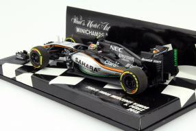 Sergio Pérez Modellauto Formel 1 2015 Maßstab 1:43