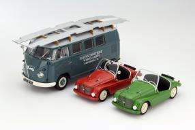 Volkswagen Bus T1 und Kleinschnittger F125 1:18