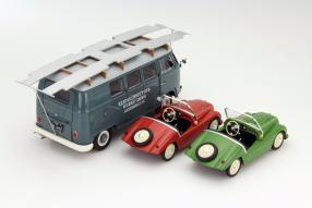 Set Volkswagen Bus T1 und Kleinschnittger F125 1:18