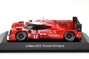 Modellauto Porsche 919 2. Platz Le Mans 2015 Maßstab 1:43
