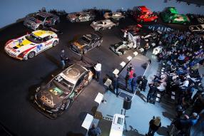 Die Steilkurve im Mercedes-Benz Museum