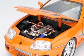 model car Toyota Supra Brian The Fast and the Furious 1:18