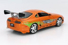 Modellauto Toyota Supra Brian The Fast and the Furious 1:18