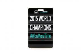 Boxentafel Modellauto Mercedes-AMG Petronas F1 W06 Hamilton Maßstab 1:18