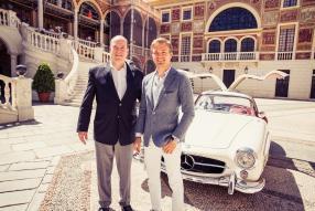 Prinz Albert und Nico Rosberg vor 300 SL