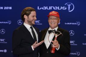 Daniel Brühl, Niki Lauda, Laureus Berlin 2016