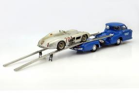 Model car Das Blaue Wunder CMC 1:18 mit 300 SLR
