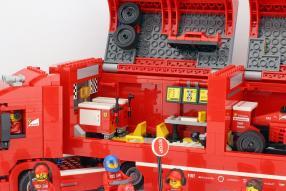 Bausatz Ferrari Renntransporter Lego