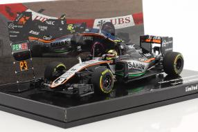 Sergio Perez Modellautos 1:43 Formel 1 2016