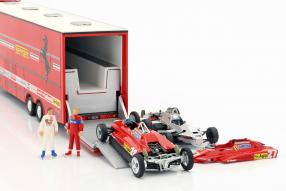 Modelcars Fiat Iveco Renntransporter Ferrari 1:43