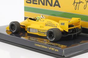 Modellautos Ayrton Senna Lotus 99T 1:43