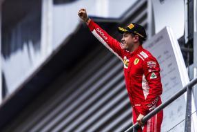 Sebastian Vettel siegt auf Ferrari in Belgien 2018 / Vettel wins with #Ferrari at #BelgianGP 2018