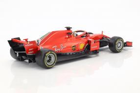 Modelautos modelcars Ferrari SF71H 1:18 Vettel #F1 2018