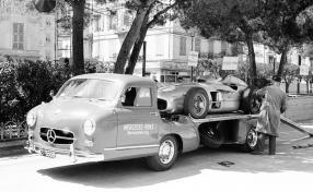 MercedesBenz Renntransporter #DasBlaueWunder 1955 mit W 196