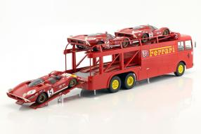 Miniatures Fiat Bartoletti Renntransporter Norev 1:18 JCB Ferrari