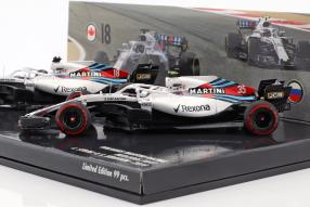 Set Williams Stroll Sirotkin Formel 1 2018 1:43