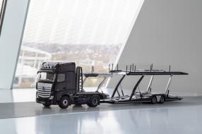 miniatures NZG Auflieger Autotransporter 1:18