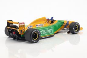 Modellautos Benetton B192 Schumacher 1992 1:18 Minichamps