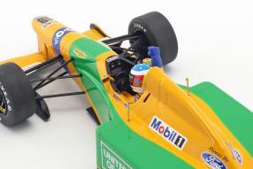 miniatures Benetton B192 Schumacher 1992 1:18 Minichamps